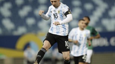 Lionel Messi lief zum 148. Mal für Argentinien auf.