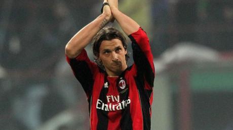 Ausgerechnet Zlatan Ibrahimovic (l) erzielte das 1:0 für Milan gegen Inter Mailand.