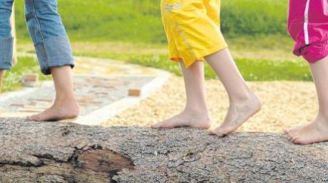 Seit 2006 können sich Kinder auf dem Barfußpark in Glöttweng austoben. Nun soll die Anlage noch schöner werden.