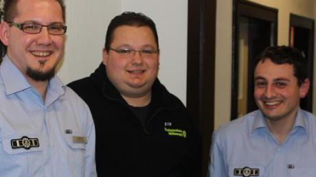 Ehrungen gab es für (von links) Thomas Sigmund (Jugendbetreuer und stellvertretender Landesjugendleiter), Christian Kreis (Ausbildungsbeauftragter) und Tobias Hupfauer (Schirrmeister und Kraftfahrausbilder).