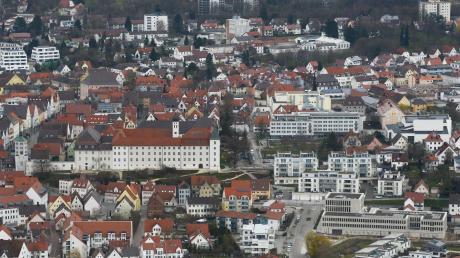 Die Günzburger Innenstadt aus der Luft.
