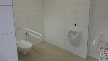 Die neue öffentliche Toilette im Alten Rathaus von Burgau.
