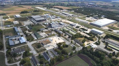Blick auf das Areal Pro auf dem früheren Fliegerhorst Leipheim.