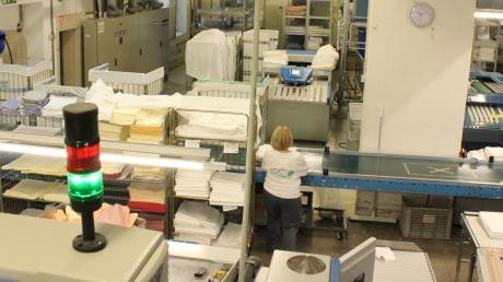 Blick in den Gundremminger Standort der Firma Greif Textilservice. Die Mitarbeiter wünschen sich einen Betriebsrat. Und dabei werden sie nicht nur von der Gewerkschaft, sondern auch von ihrer Firma unterstützt. Das gibt es nicht so oft, findet die IG Metall.