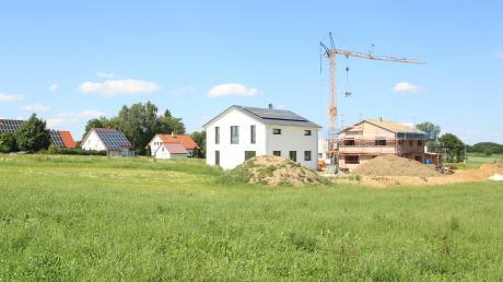 Im Bereich der Gemeinde Haldenwang ist zuletzt kräftig gebaut worden – zum Beispiel im Gebiet Kohlstattäcker II im Ortsteil Hafenhofen.