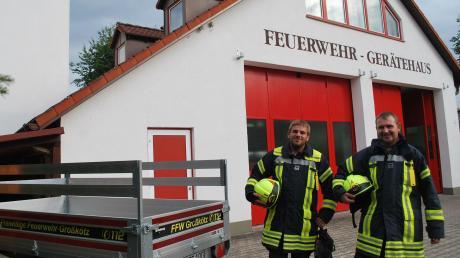 Kommandant Martin Reidinger (links) und der Zweite Vorsitzende des Feuerwehrvereins Andreas Dexle sehen die Freiwillige Feuerwehr Großkötz auch im 150. Jahr ihres Bestehens gut aufgestellt.