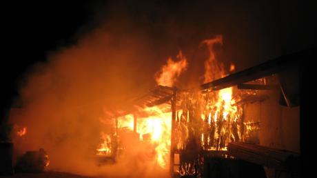 Ein Großbrand in einem Rieder Sägewerk forderte alle Einsatzkräfte der Ettenbeurer Wehr.