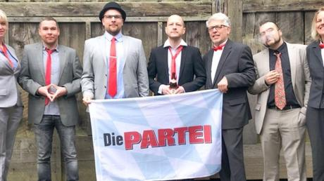 Die Kandidaten (v. l.): Ramona Weidmann, Dominik Lang, Florian Bruckmann, Matthias Lorch, Wolfgang Sander, Christoph Eberl, Valerie Sander.