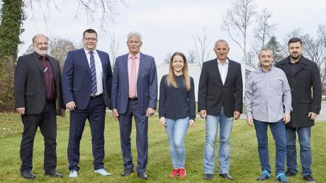 Die SPD-Kandidaten für die Kommunalwahl 2020: (von links) Wolfgang Mayer, Björn Scholz, Willi Riedel, Jenny Raaf, Walter Oberdorfer, Robert Blanck und Florian Mayer.