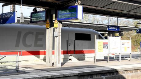 Im Bahnhof Günzburg werden mit dem neuen Fahrplan öfter ICE-Züge der Deutschen Bahn halten, wenn teilweise auch nur vorübergehend.
