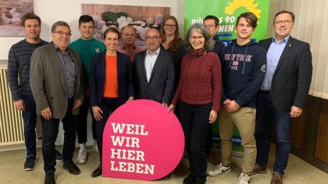 Die Kandidaten der Grünen für Offingen und Vertreter des Ortsverbands Nördliches Mindeltal-Holzwinkel.