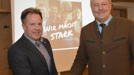 Friedrich-Josef Heidel (links) und sein Vorgänger Erich Schulz.