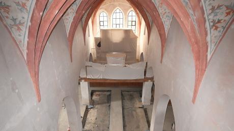 Der Blick von oben in die St. Veitskirche