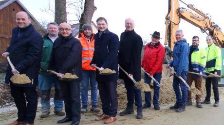 Die Arbeiten der Hochwasserschutzprojekte in Kemnat haben begonnen.