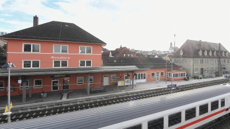 Der Bahnhof in Günzburg.