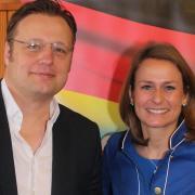 Der Landratskandidat Gerd Mannes und die AfD-Bundestagsabgeordnete Corinna Miazga.