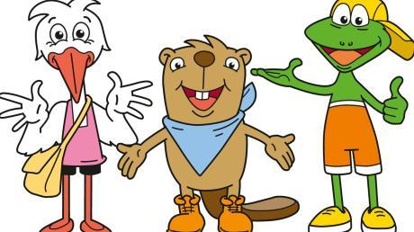 Da sollten wohl Kinder, Familien und Natur verbunden werden: Vor acht Jahren wurde den tierischen Sympathieträgern Mona Mindel, Gustl Günz und Kalle Kammel (von links) im Stile von Comicfiguren neues Leben eingehaucht. Jetzt hat der Landkreis sich in zwei Zukunftskonferenzen mit der Fortschreibung des Leitbildes als Kinder- und Familienregion beschäftigt.