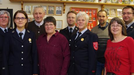 Geehrt wurden: (von links) Sonja Rau, Karin Gottfried, Albert Vogg, Martha Bestler, Simon Rosenfelder, Gabi Feil, Markus Spägele, Elisabeth Spitzer, Johannes Bader.