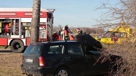 Auch ein Rettungshubschrauber war im Einsatz.