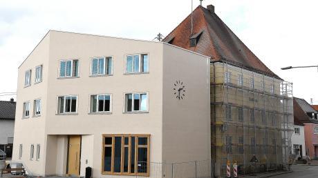 Das Rathaus von Jettingen-Scheppach.