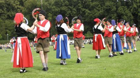 Der traditionelle Schnitterreigen wird jedes Jahr am Kinderfest in Leipheim aufgeführt. 2021 wird er nicht zu sehen sein.