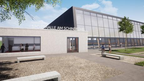 So soll die geplante Dreifachsporthalle in Jettingen-Scheppach von außen aussehen. Den Eingabeplan dafür haben die Gemeinderäte in der jüngsten Sitzung einstimmig beschlossen.