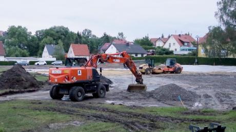 Der Neubau des Konzenberger Kindergartens ist das größte Projekt der Gemeinde Haldenwang in diesem Jahr. Vor Kurzem wurde mit den Arbeiten begonnen.