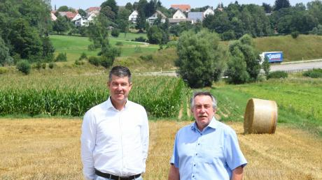 Vor einem Jahr setzten die Anlieger von Nornheim (Peter Schulze, links) und Leinheim (Hans Kaltenecker, rechts) für eine Verbesserung des Lärmschutzes an der A8 Politiker in Bewegung. Passiert ist seitdem nichts.