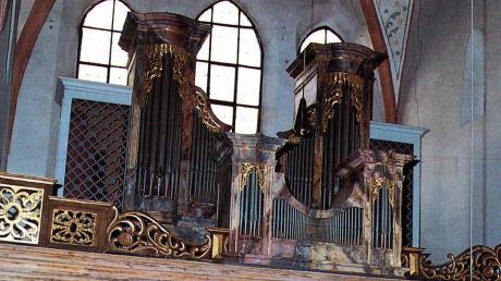 Die Orgel steht seit 1766 in der St.-Veits-Kirche in Leipheim, 1963 wurde sie umgebaut. Jetzt soll das Instrument saniert werden; dafür gibt es allerdings keinen Zuschuss.