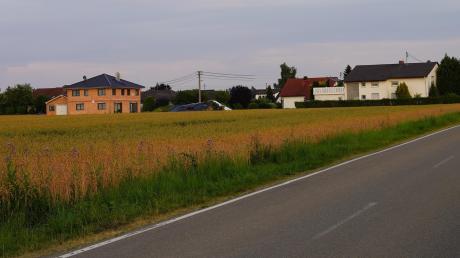 Hier soll das Wohnbaugebiet Anhofen Nord mit 19 Grundstücken entstehen. Der Gemeinderat Bibertal verabschiedete den Vorentwurf des Bebauungsplans.