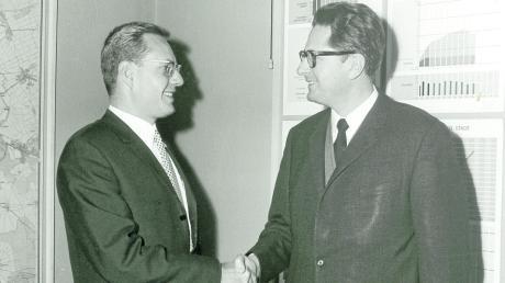 Als Oberbürgermeister-Kandidat in Günzburg besuchte Rudolf Köppler im Januar 1970 das Münchner Stadtoberhaupt Hans Jochen Vogel. Der versprach, Köppler im Wahlkampf zu unterstützen – und hielt Wort.