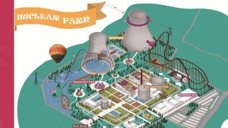 Nach der Idee von Studenten der Uni Kassel könnte aus dem Atomkraftwerk ein Wissens- und Vergnügungspark werden. Hier ist ein Ausschnitt zu sehen.