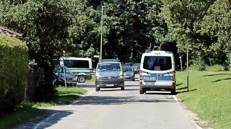 Auch entlang des Günzburger Auwegs suchte die Polizei nach einem BKH-Patienten, der am Donnerstagvormittag geflohen war.