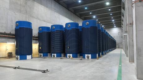 Ein Blick ins Atommüll-Zwischenlager Gundremmingen mit den Castorbehältern: Wer soll hier künftig für den Brandschutz zuständig sein?
