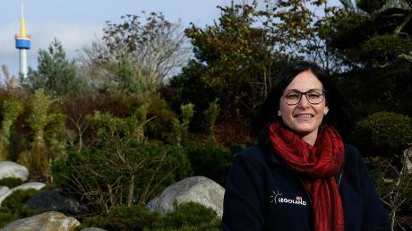 Manuela Stone, Chefin von Legoland Deutschland, im seit dem 2. November geschlossenen Freizeitpark.