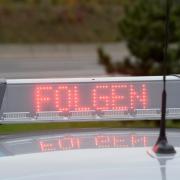Die Polizei zog auf der A7 einen Sattelzug aus dem Verkehr.