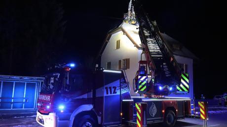 Die Feuerwehr war am Freitagabend in Röfingen im Einsatz.