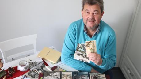 Gerhard Grießmayr aus Nornheim sammelt seit mehr als 30 Jahren alte Ansichtskarten mit Motiven von Günzburg und den Stadtteilen und aus der Zeit von 1890 bis 1950. Inzwischen sind es rund 1600 Karten.