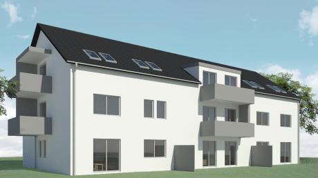 So soll das Gebäude aussehen, das die Baugenossenschaft Ichenhausen realisiert.