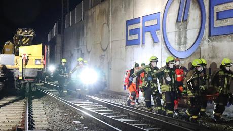 Einsatz im Bereich des Bahnhofs Günzburg für die Rettungskräfte.