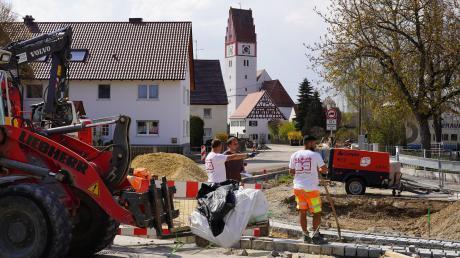 Die Baumaßnahmen in Bubesheim sind laut Bürgermeister Sobczyk nur leicht außerhalb des Zeitplans.