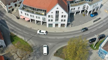 Diese Kreuzung in Burgau ist für Fußgänger gefährlich.