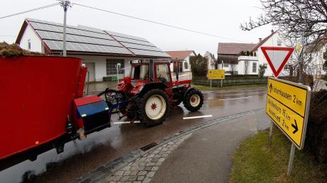 In Oxenbronn gilt künftig auch in der Nähe des Kindergartens Tempo 30, so wie im Bereich dieser Kreuzung.