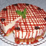 In diesem Rezept finden Sie die Angaben für eine Erdbeer-Quarktorte.