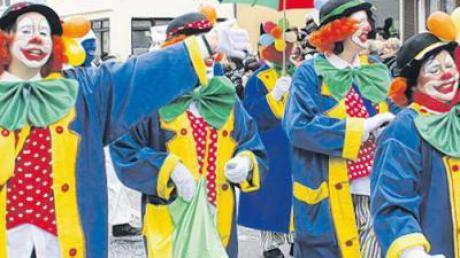 Immer gut drauf. Die Clowns sahen aus wie von Mainz importiert.