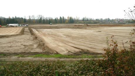 Auf einem 140000 Quadratmeter großen Areal wird das neue Zentrallager des Discounters Lidl im Dettinger Gewerbegebiet entstehen.