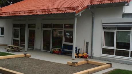In der neuen Krippe des Liselotte-Forster-Kindergartens in Au können in zwei Gruppen 24 kleine Mädchen und Buben betreut werden. Der Anbau wird am kommenden Samstag offiziell eingeweiht.