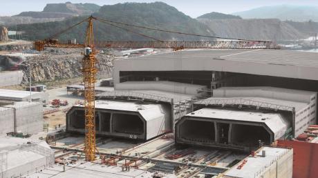 Eine beeindruckende Baustelle: Auf einer Insel zwischen Hongkong und Macau hat das Weißenhorner Unternehmen Peri die gewaltigen Bauteile für den längsten Unterwassertunnel der Welt gegossen.
