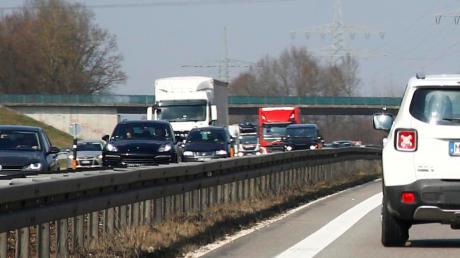 Die erste Sanierung auf der Autobahn ist fast fertig.