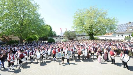Das Bezirksmusikfest vergangenes Jahr in Jedesheim war ein voller Erfolg.